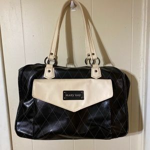 Mary Kay Large Black & Cream Consultant Bag